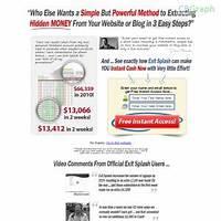 Exit splash web page exit software that makes you money! reviews