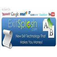 Exit splash web page exit software that makes you money! bonus
