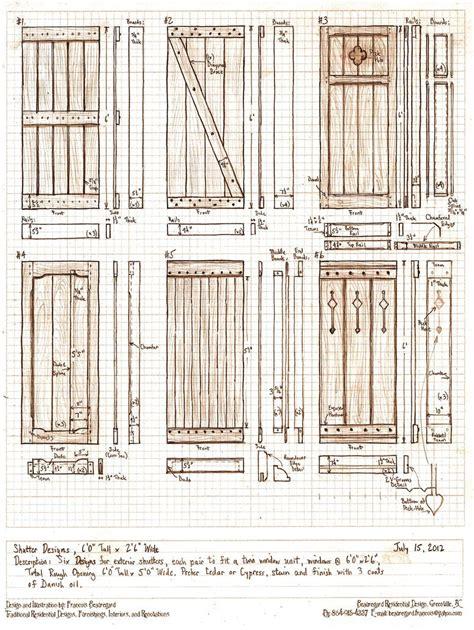 Exterior wood shutter plans Image