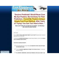 Eye floaters no more new niche with high conversions free tutorials