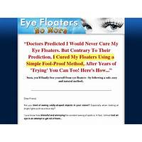 Eye floaters no more new niche with high conversions bonus
