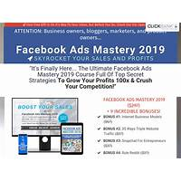 Facebook ads mastery 2019 high converting online training course offer