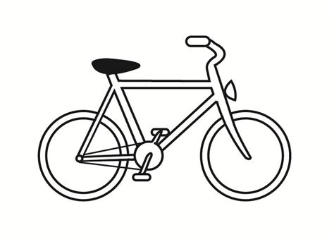 Fahrrad Malvorlage