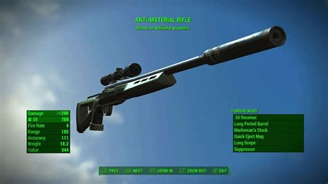 Fall Out 4 Legendary Sniper Rifles