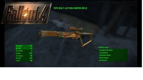 Fallout 4 Best Early Game Sniper Rifle
