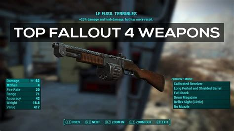 Fallout 4 Best Gun For Each Ammo Type