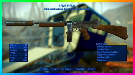 Fallout 4 Exploding Tommy Gun