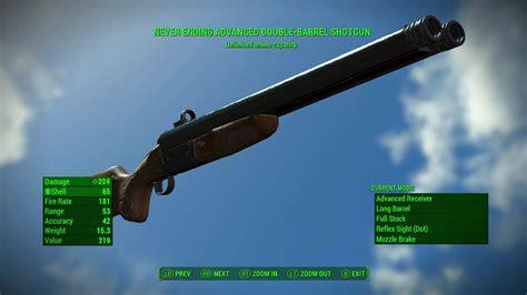 Fallout 4 Never Ending Double Barrel Shotgun