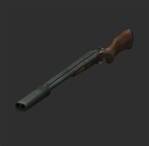 Fallout 4 Suppressed Double Barrel Shotgun
