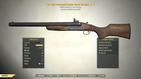 Fallout 76 Double Barrel Shotgun Both Barrels