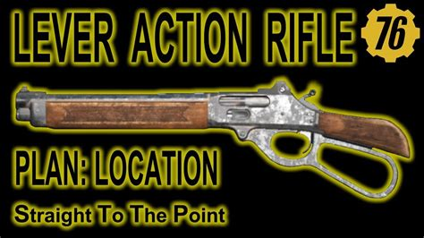 Fallout 76 Lever Action Rifle Plans