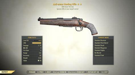 Fallout 76 Two Shot Anti Armor Hunting Rifle