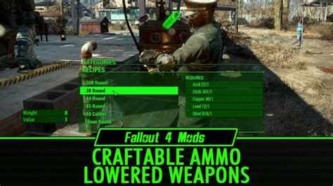 Falloutt 4 Craftable Ammo Doesn T Show