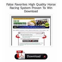 Discount false favorites high quality horse racing system proven to win
