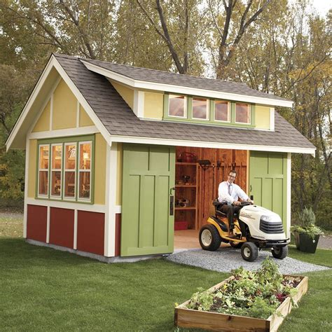 Family handyman garden shed Image