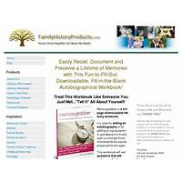Familyhistoryproducts com 321 page, downloadable life story workbook technique