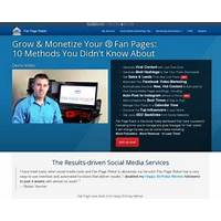 Fan page robot automated system to grow social media fanbase & leads promo code