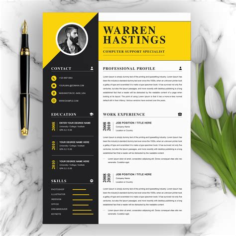 Fancy Resume Templates Free | Invoice Template Excel Download