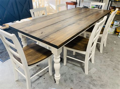 Farm table white legs Image