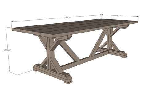 farmhouse table plans free.aspx Image