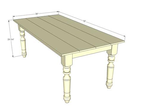 Farmhouse table dimensions Image