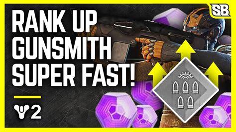 Fastest Way To Get Gunsmith Rank Up Destiny