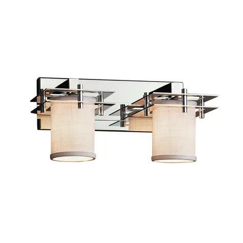 Favela 2 Light Cylinder w/ Flat Rim Vanity Light