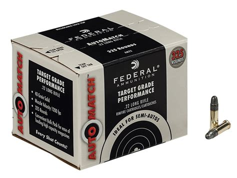 Federal 22 Long Rifle Ammo Target Grade Performance
