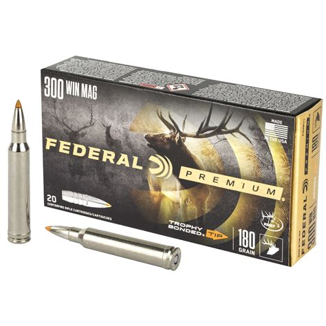 Federal 300 Win Mag Trophy Bonded Tip Long Range Accuracy