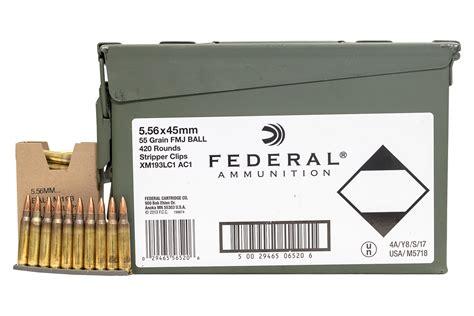 Federal 5 56 Nato 55gr Fmj 420rds In Ammo Can Palmetto