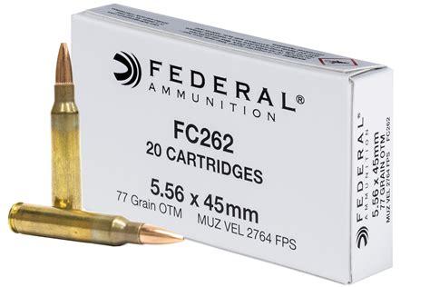 Federal 5 56x45mm NATO Ammo 77 Grain Open Tip Match