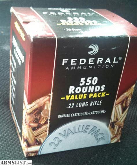 Federal 550 22 Ammo