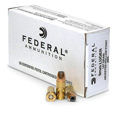 Federal 9mm 147gr Jhp Subsonic Ammo