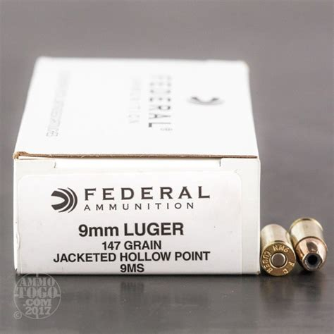 Federal 9mm Luger Subsonic Ammo 147 Grain Hishok