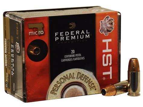 Federal 9mm Micro Ammo