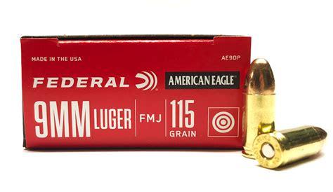 Federal American Eagle 9mm 115 Grain Fmj