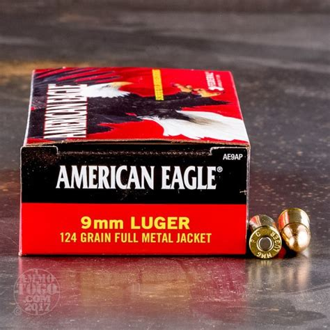 Federal American Eagle 9mm 124 Grain Full Metal Jacket