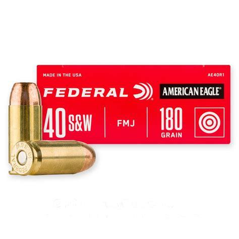 Federal Ammunition 40 S W 180 Grain Fmj Fn