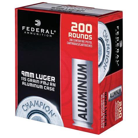 Federal Ammunition Aluminum 9mm