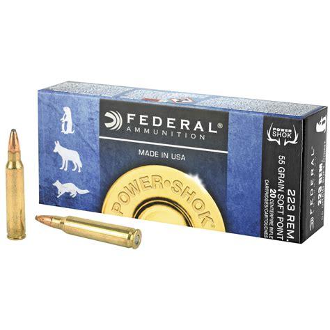 Federal Ammunition Power Shok Rifle 223a