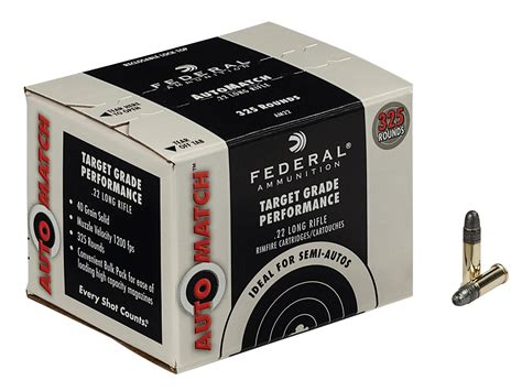 Federal Automatch 22 Long Rifle Ammo