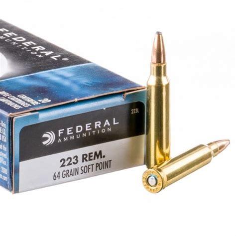 Federal Cartridge 223 Remington 64gr Soft Point Power Shock Per 20 223l Unboxing