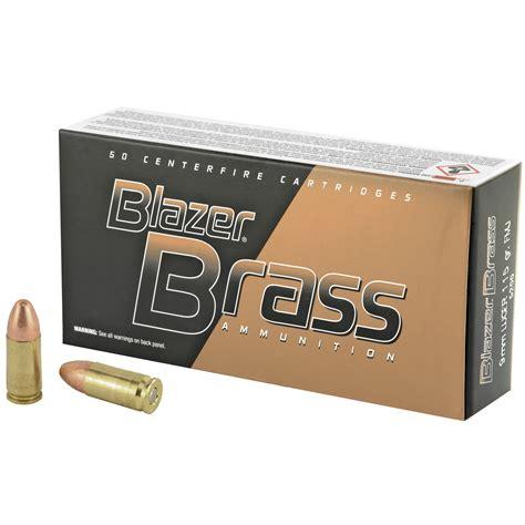 Federal CCI Blazer Brass 9mm 115 Grain FMJ 5200 Ammo