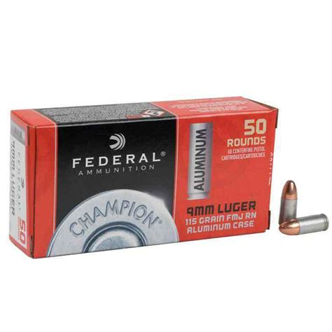 Federal Champion 9mm Ammo 50 Rounds