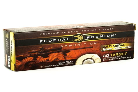 Federal Gold Medal 223 Rem 69 Grain Sierra Matchking