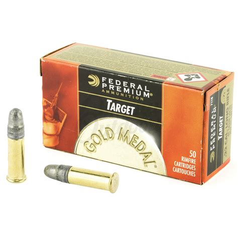 Federal Gold Medal Ammo 22LR 40gr Target 50 Round Box