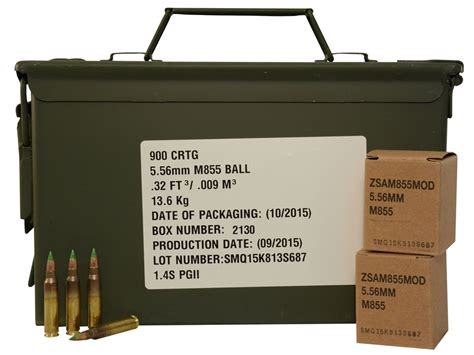 Federal Lake City 5 56x45mm 62 Gr Nato Xm855 Ss109 And 6 5 X55 Swedish Mauser Once Fired Reloading Cartridge