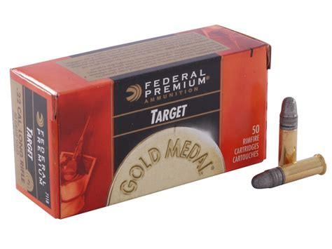 Federal Premium Gold Medal Target Ammo 22 Long Rifle 40