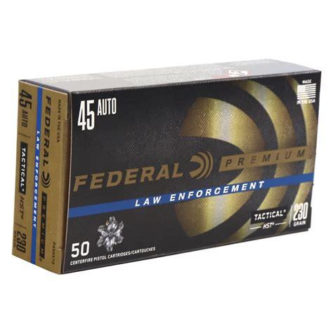 Federal Premium Law Enforcement 45 ACP 230gr HST