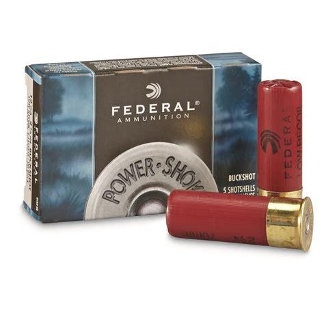 Federal Shotgun Ammo 12 Ga 00 Buck Low Recoil